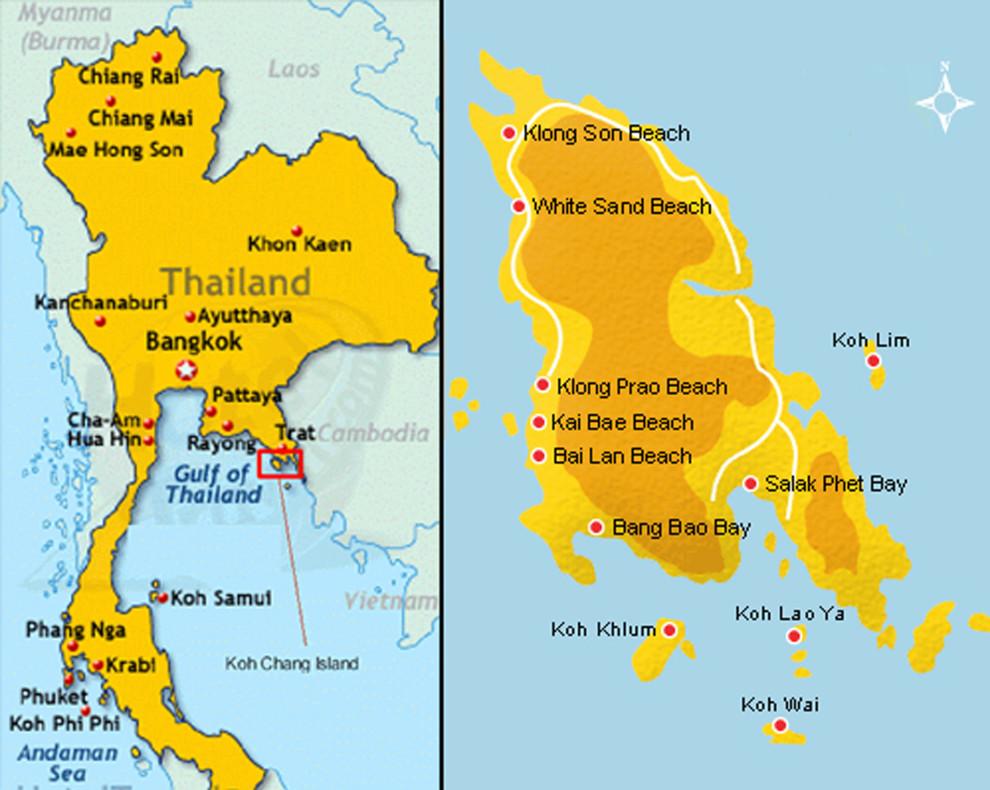 L'île est située dans le Golfe de Thaïlande, non loin du Cambodge
