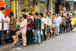 Queue de clients- Chinatown