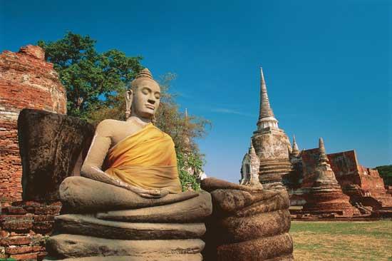 Buddha Statue at Wat Phra Sri Sanphet Ayutthaya, Thailand