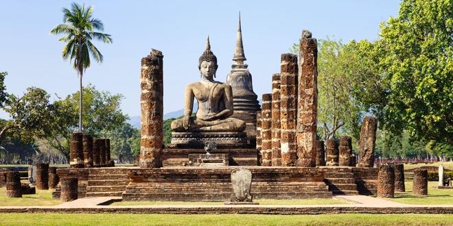 Visite du parc historique de Sukhothai en Thaïlande