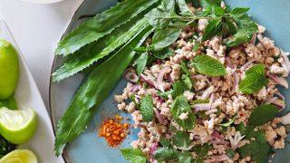 L'ultime recette du Thai Larb (Laab ou Laap) (larb moo ลาบหมู)