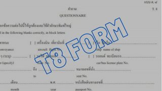 Le T8 form (déclaration de santé), un document indispensable pour un voyage en Thaïlande